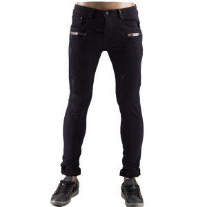 Pantaloni Uomo Jeans Strappati Slim Fit Elastici Strappi Skinny Aderenti Nero 1