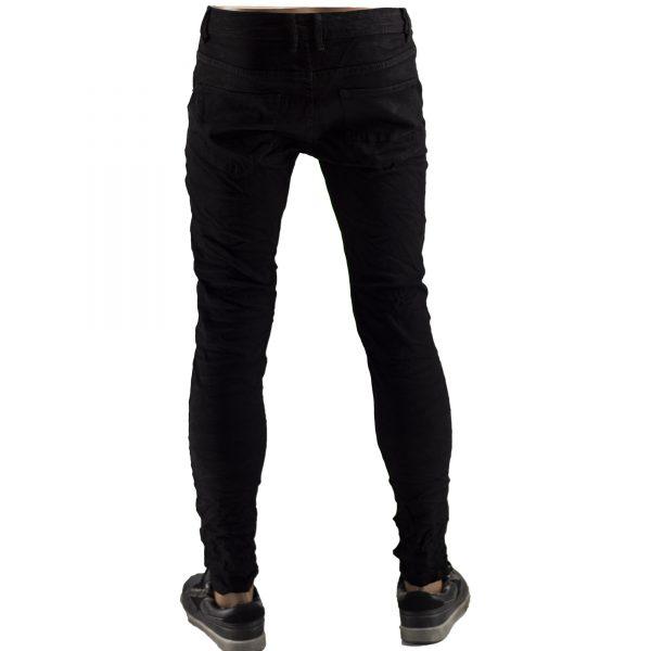 Pantaloni Elastici Uomo Jeans Slim Fit Strappati Skinny Aderenti Strappi Nero 6