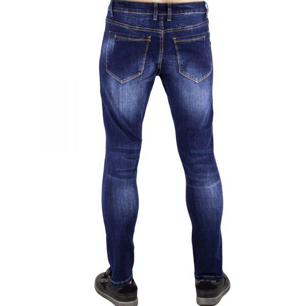 Jeans Uomo Pantaloni Blu Scuro Denim Slim Elasticizzati Morbidi SlimFit Aderenti 4