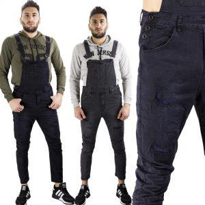 Salopette Uomo Pantaloni Slim