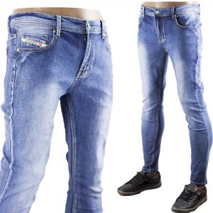 Jeans Uomo Pantaloni Denim